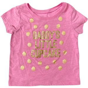 """Childrens Place 18-24 Month """"Cupcake"""" Pink T-Shirt"""